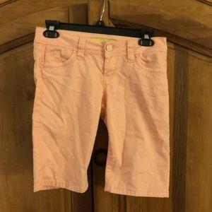 Juniors pink YMI shorts, sz 3